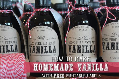 vanilla extract label template free vanilla labels printable tags recipe