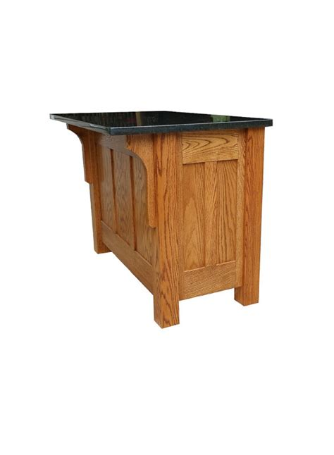 Mission Style Kitchen Island 30x48 Mission Style Kitchen Island With Granite