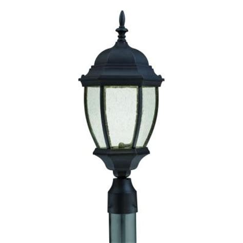 Discontinued Outdoor Lighting Lighting Covington Outdoor Black Led Post Lantern Discontinued Tw0003030 The Home Depot