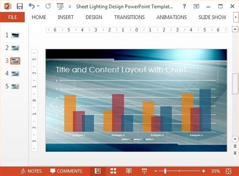 layout modification template windows 10 sheet lighting design powerpoint template