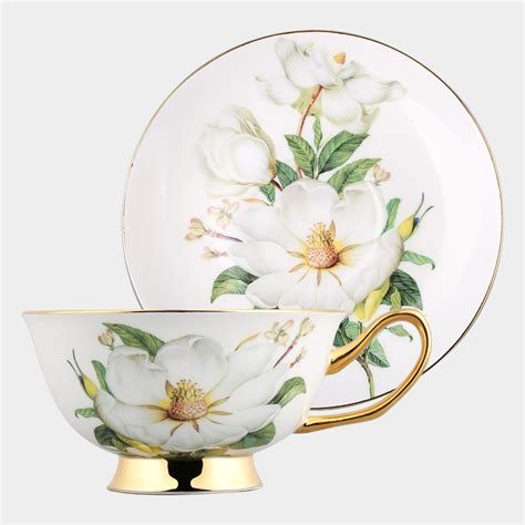 new tea cup set cup saucer coffee royal gilded floral fine