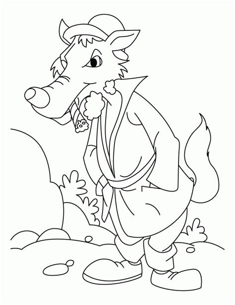 big bad wolf template baby wolf coloring pages az coloring pages