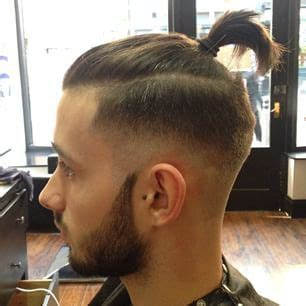 how to cut hair for a top knot male skin fade top knot hair pinterest tops top knot and