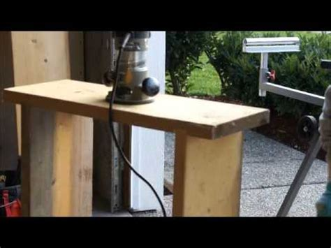 build  homemade router table part  youtube