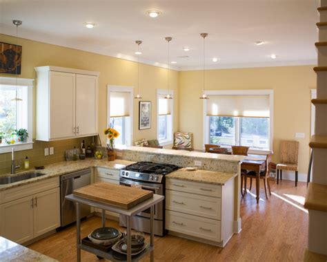 Cottage Style Kitchen Island cottage kitchen yellow decorating ideas pinterest