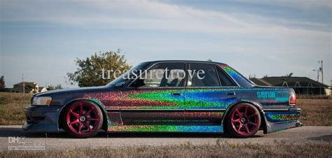 rainbow glitter car 2017 rainbow glitter effect vinyl wrap car wrapping