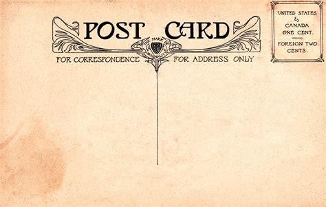 10 Best Images Of Vintage Postcard Templates Free Free Rsvp Postcard Templates Vintage Free Vintage Postcard Template