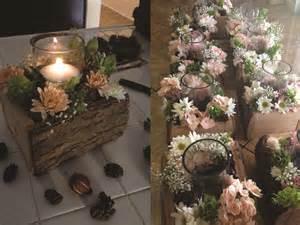 Flower Water Vase Centerpiece Diy Wedding Woodsy Flower Centerpiece Sarah S Blog