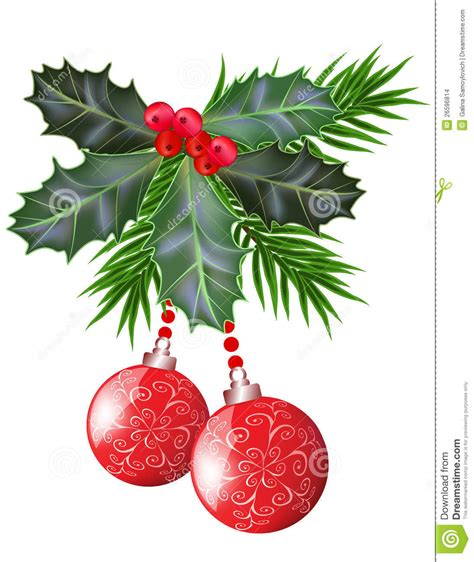 christmas leaf and new year leaves and berries stock vector image 26596814