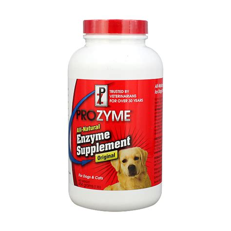 enzymes for dogs prozyme enzyme supplement for dogs cats 85g 200g 454g