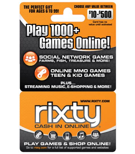 Computer Game Gift Cards - pc games 10 rixty gift card