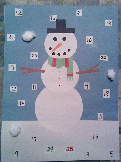countdown to christmas snowman craft christmas