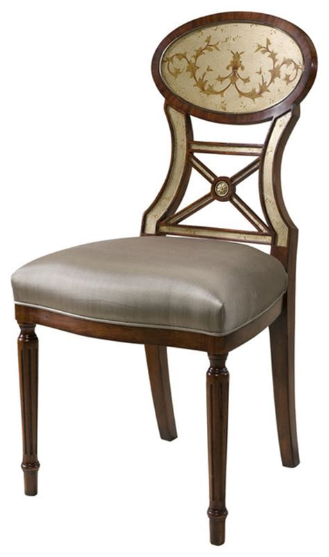 theodore eglomise accent dining chair