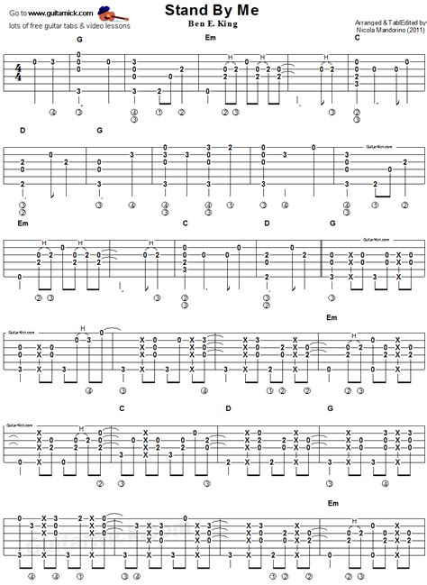 fingerstyle en la guitarra 191040392x stand by me fingerstyle guitar tablature 1 guitar stuff guitarras partituras y