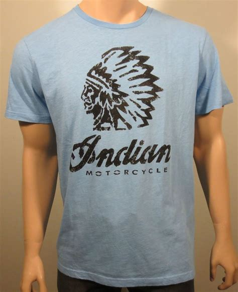 Pair T Shirts India New Lucky Brand Indian Motorcycle Distressed Graphic