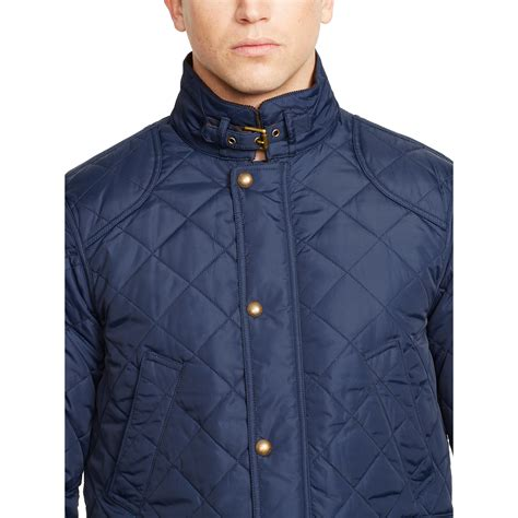 Polo Ralph Quilted by Polo Ralph Quilted Jacket In Blue For Lyst