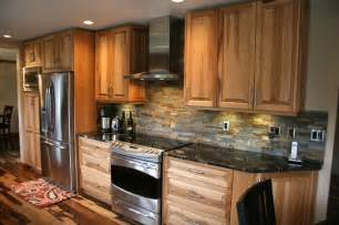 Kitchen Backsplash Ideas Houzz hickory raised panel kitchen traditional kitchen