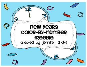 new year by the numbers new year color by number freebie by tpt