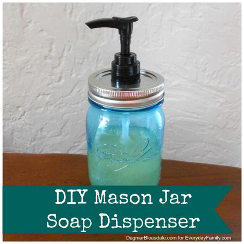 diy mason jar soap or lotion dispenser
