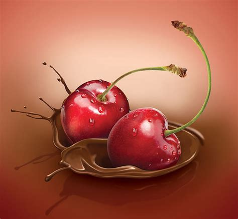 fruit usernames chocolate cherries by martin illustration