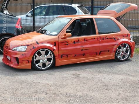 peugeot 106 orange photo voiture tuning