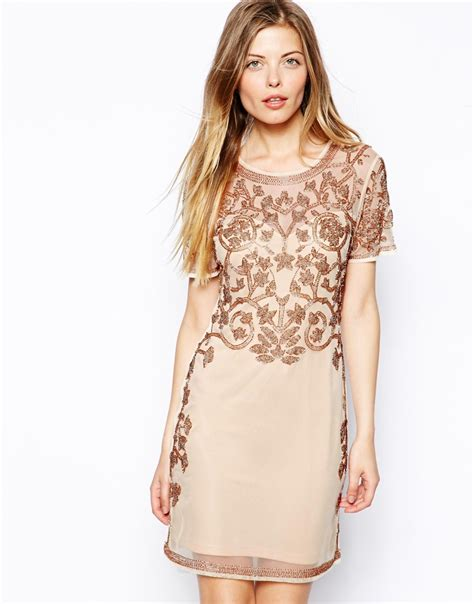 Dress Of The Day Embellish Shift Dress by Asos Baroque Embellished Shift Dress In Lyst