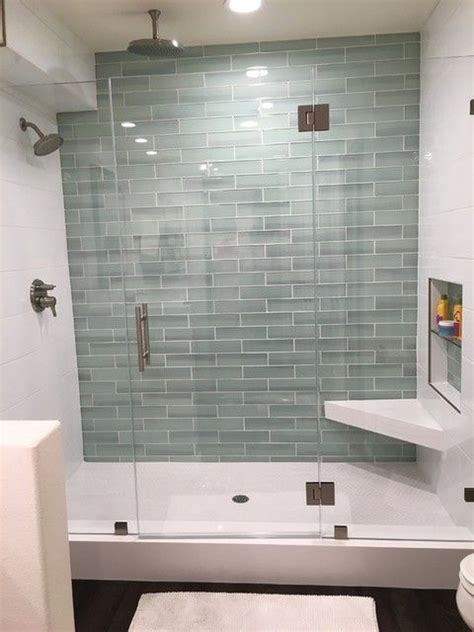 glass subway tile bathroom ideas best 25 glass tile shower ideas on subway