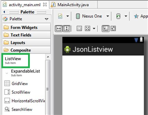 view json layout how to populate android list view from json chathura
