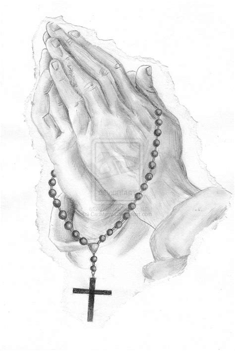praying hands with rosary beads tattoo designs rosary praying by carlmerrell on