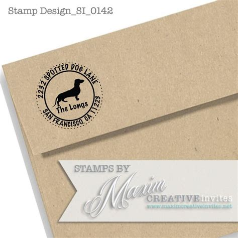 label design etsy personalized dachshund dog self inking rubber st gift