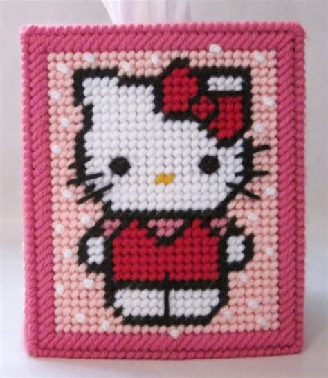 free patterns in plastic canvas free plastic canvas tissue box patterns hello kitty