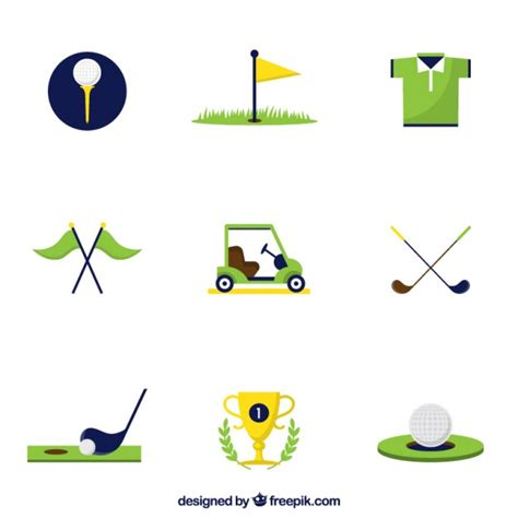 gulf logo vector golf icons vector free