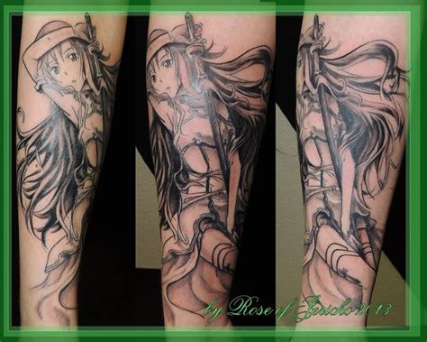 sword art online tattoo google search anime