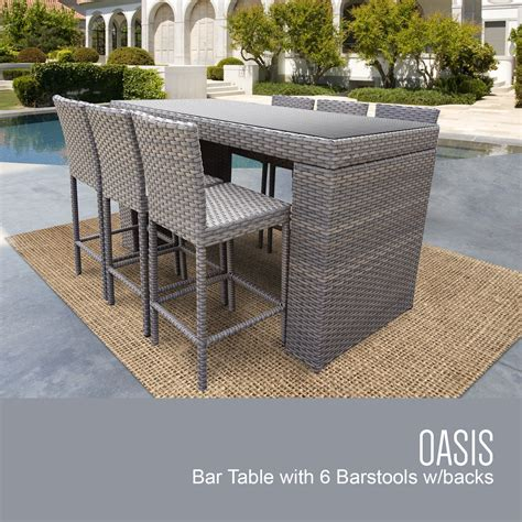 tk classics oasis bar table set with barstools 7
