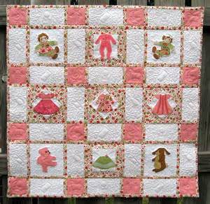 Baby girl quilt these made in the hoop quilt blocks are from the baby
