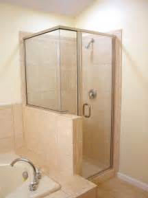 corner glass shower doors frameless semi frameless shower enclosures and glass doors for bath