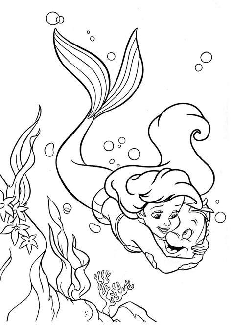 Desenhos Pequena Sereia Colorir Desenho Pinterest