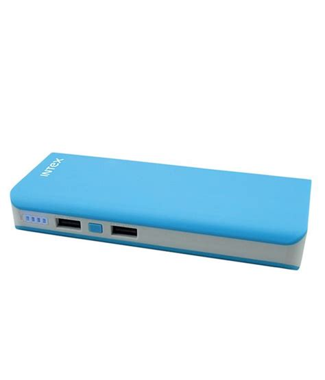 Power Bank Blue intex 10000mah it pb10k power bank blue buy intex 10000mah it pb10k power bank blue