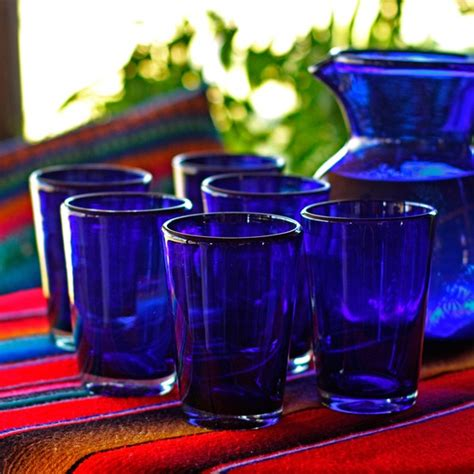 nice  elegant cobalt blue drinking glasses homesfeed