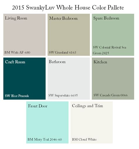whole house color palette whole house color scheme swankyluv