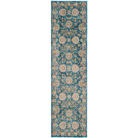 safavieh vintage turquoise multi 8 safavieh vintage turquoise multi 2 ft 2 in x 8 ft runner vtp469k 28 the home depot