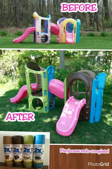 spray painting play tikes and step2 upcycle ideas