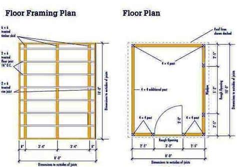 10 By 8 Floor Plan - 8 215 10 storage shed plans blueprints for constructing a