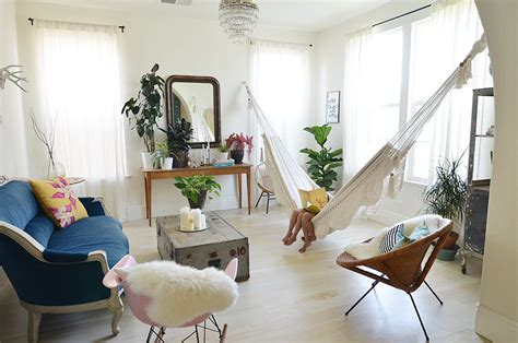 hammock in living room how to bring your hammock indoors popsugar home