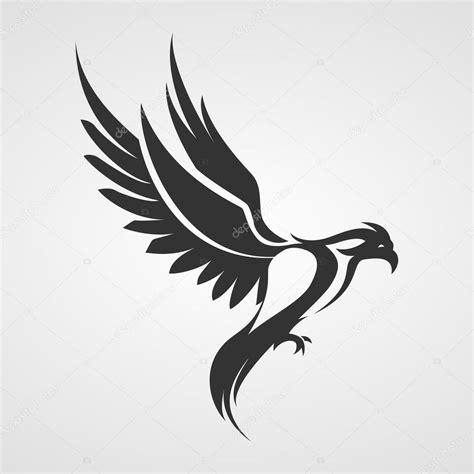 bird logo eagle phoenix silhouette stock vector