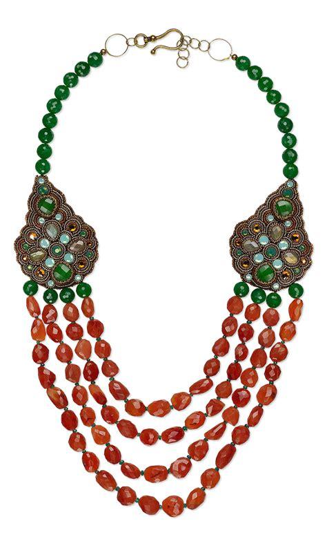 jewelry design multi strand necklace with carnelian