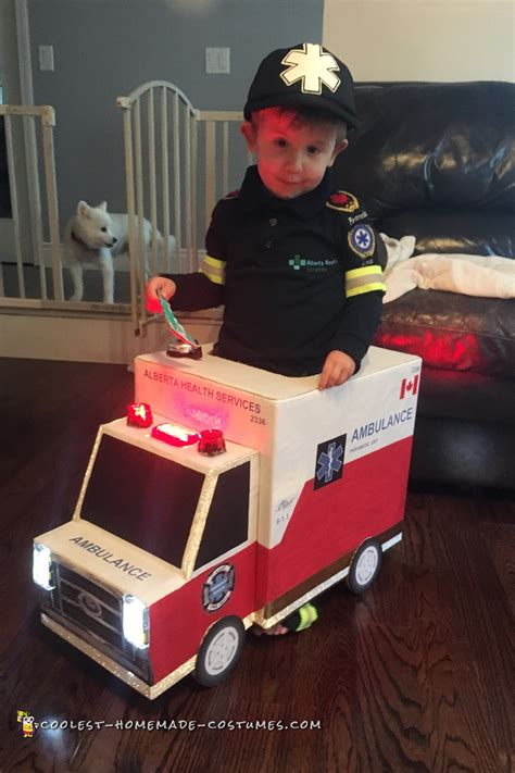 awesome toddler paramedic  ambulance costume