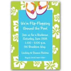 pool party invitations blank
