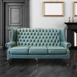 high back chesterfield sofa green chesterfield 3 seater high back wing sofa