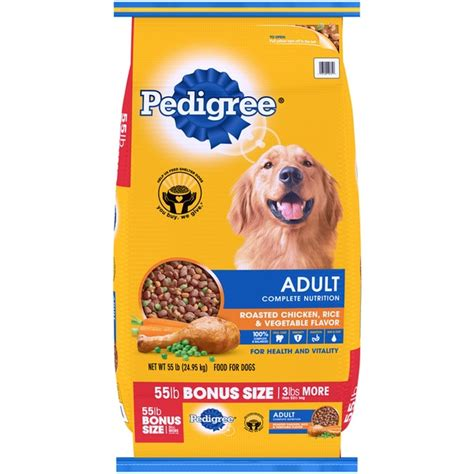 pedigree food pedigree complete nutrition roasted chicken rice vegetable flavor food 55
